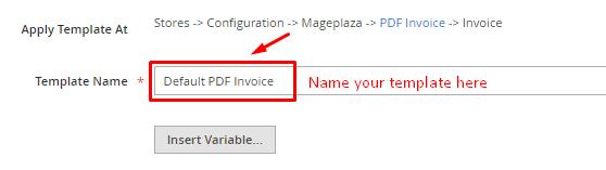 PDF Invoice Template Management