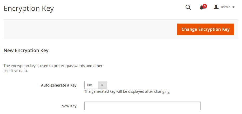 Magento 2演示管理加密密钥