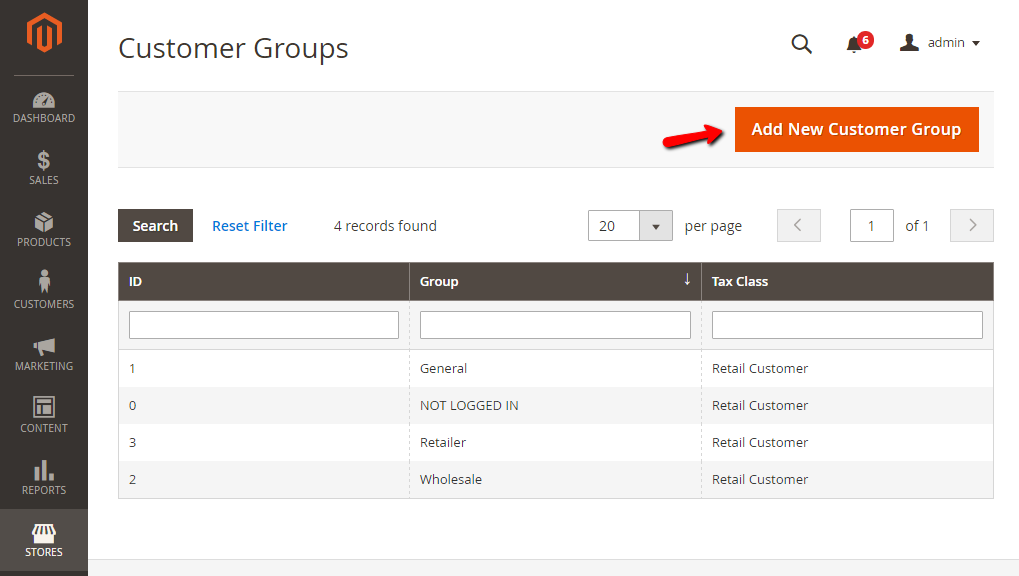 How to Create a new Customer Group