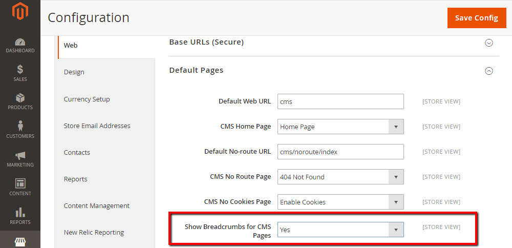 How to Add Breadcrumbs to CMS Pages