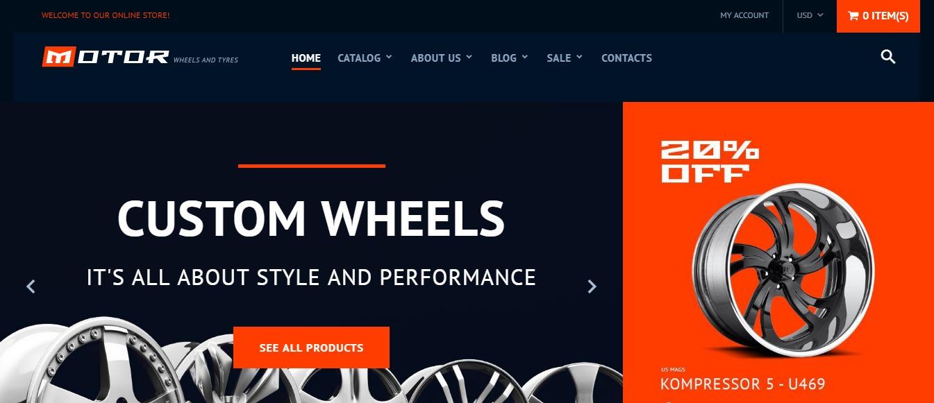Wheels & Tires theme