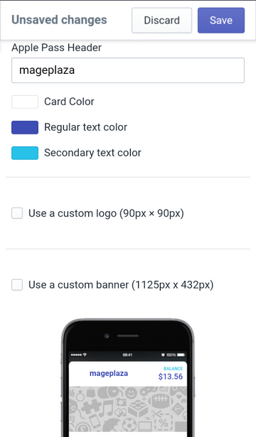 change text and background colors on Apple Wallet Passes
