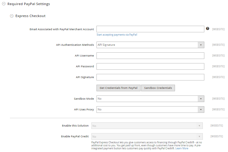How to Configure PayPal Express Checkout Payment Method in