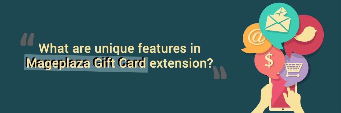 What are unique features in Mageplaza Gift Card extension?
