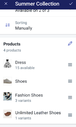 change the sort order for the products