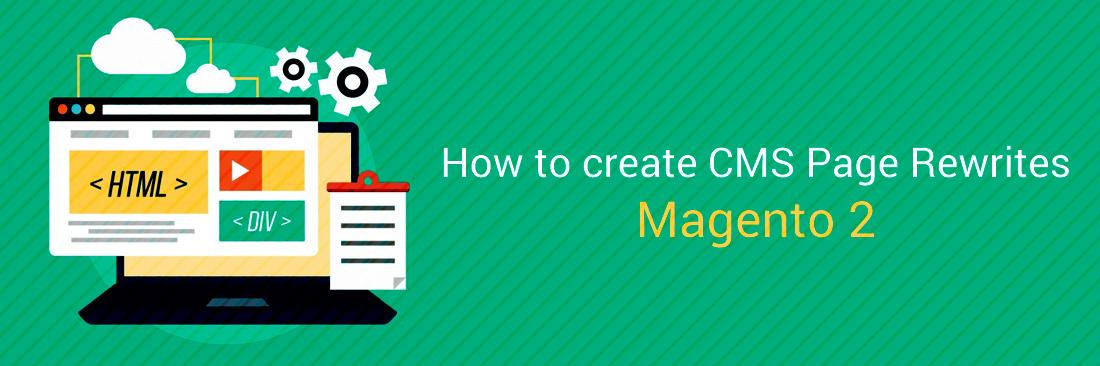 Create CMS Page Rewrites