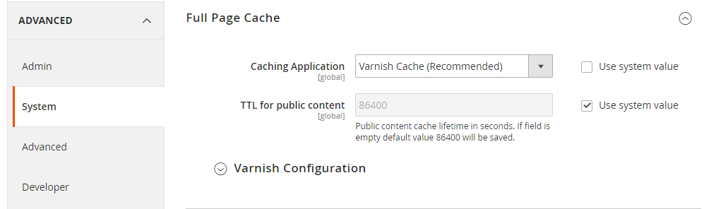 Magento 2 Performance - Enable Varnish Caching