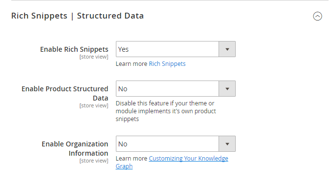 Magento 2 SEO Rich Snippet Structured Data