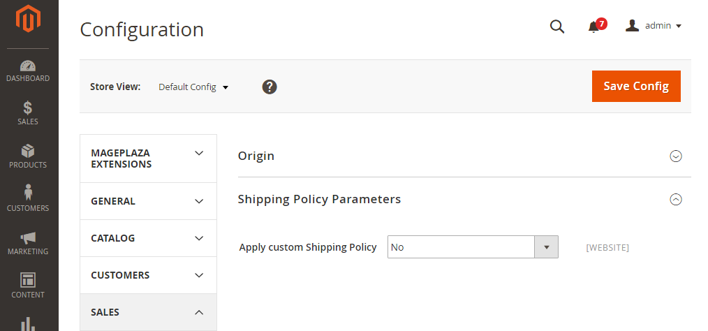 How to Configure Shipping Policy