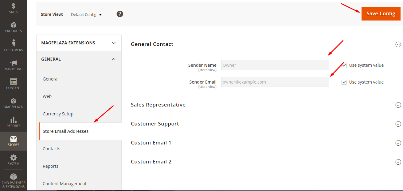 Configure Email Sending system for Magento stores
