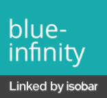 blue-infinity Linked by isobar Logo