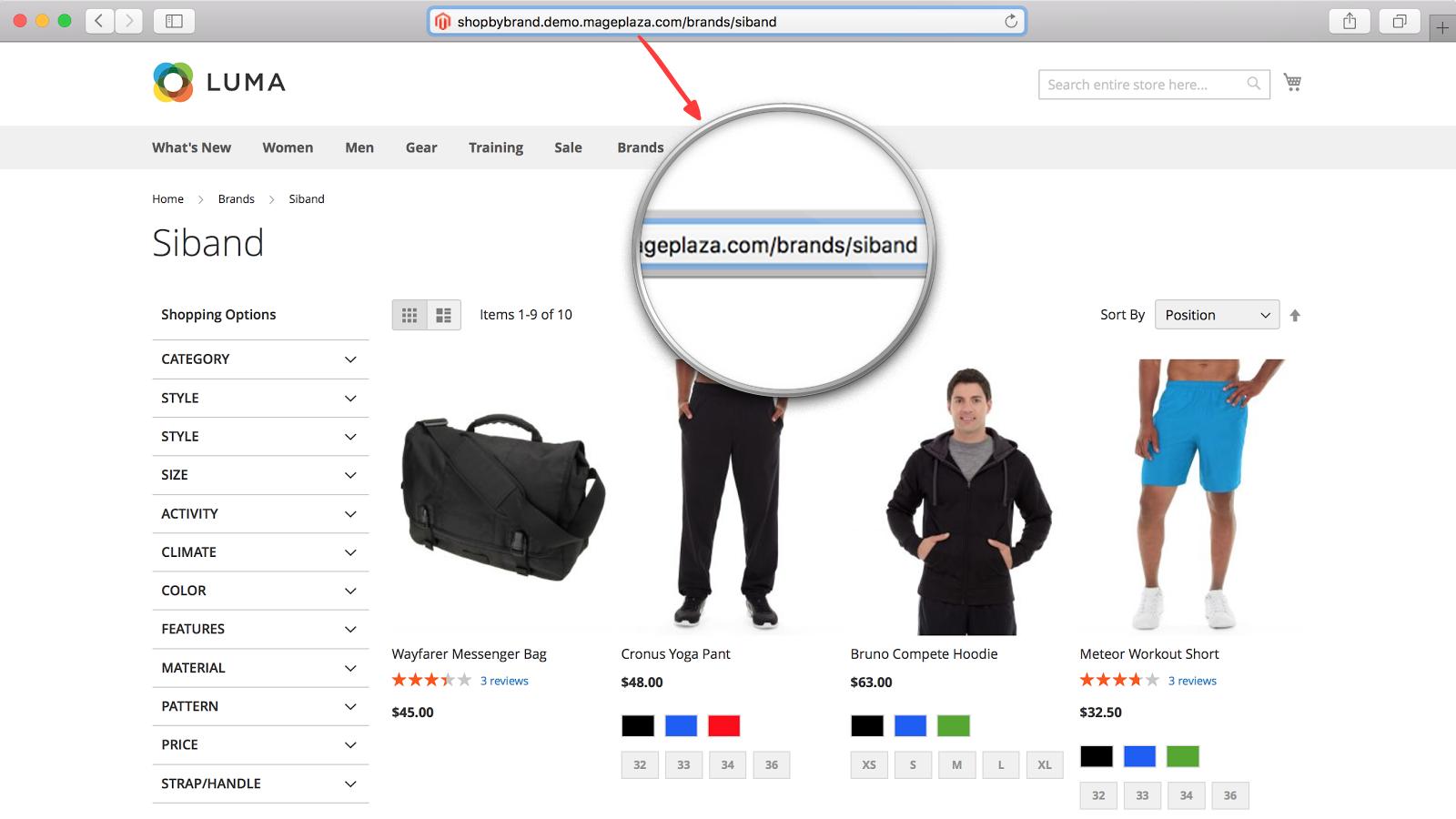 shop by brand friendly url