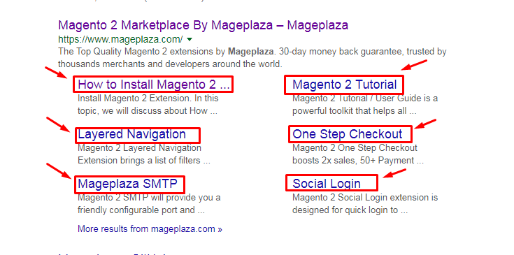 Mageplaza SEO internal links