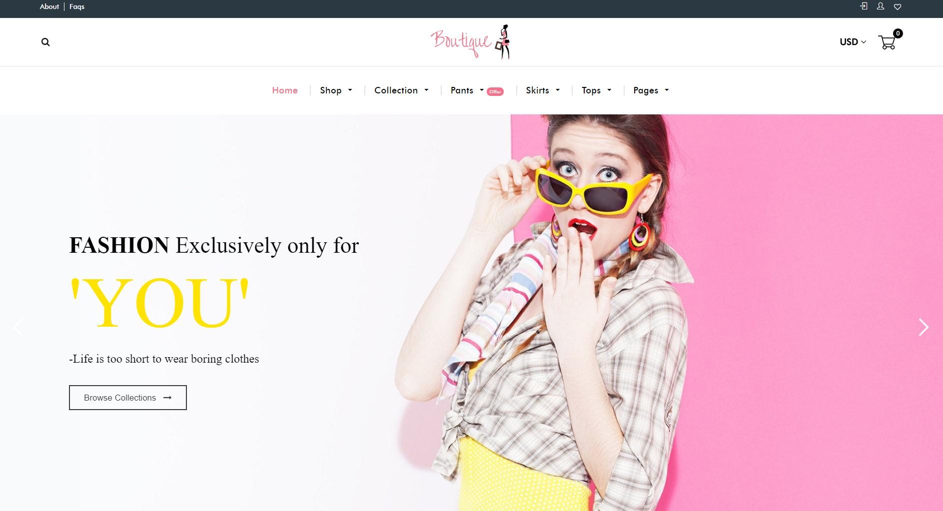 Fashion Boutique theme