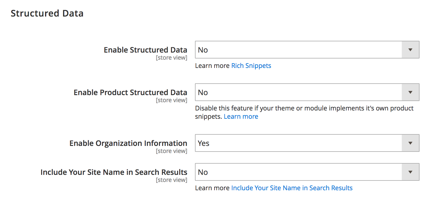 SEO structure data
