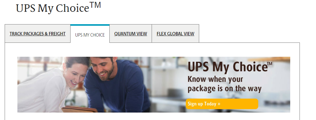 Tracking possibility with UPS