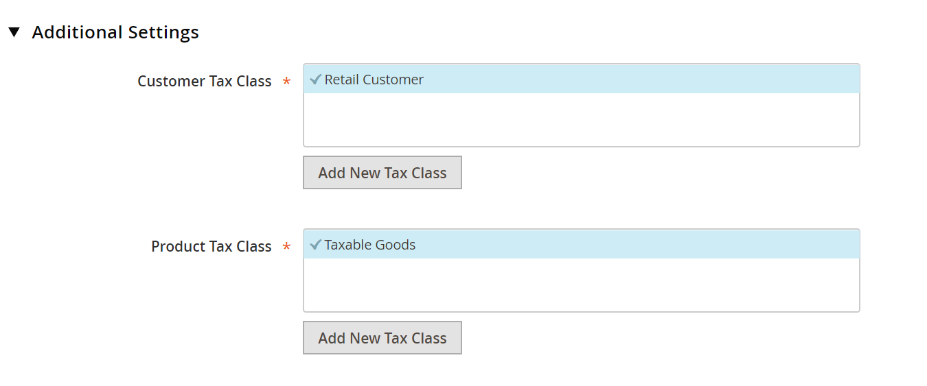How to include extra Tax classes in Magento 2