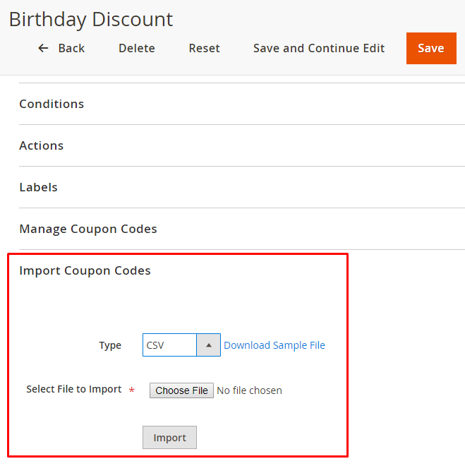 Magento 2: Import Coupons From CSV file