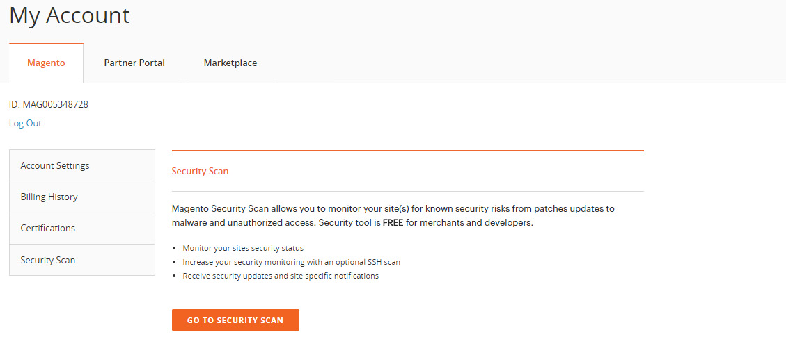 Enable Security Scan in Magento 2