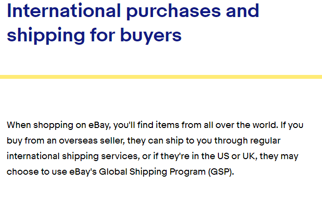 How Ebay deals with international shipping