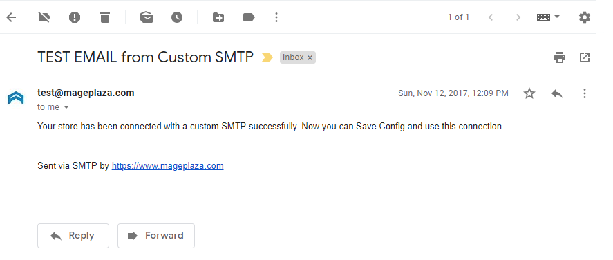 SMTP testing email