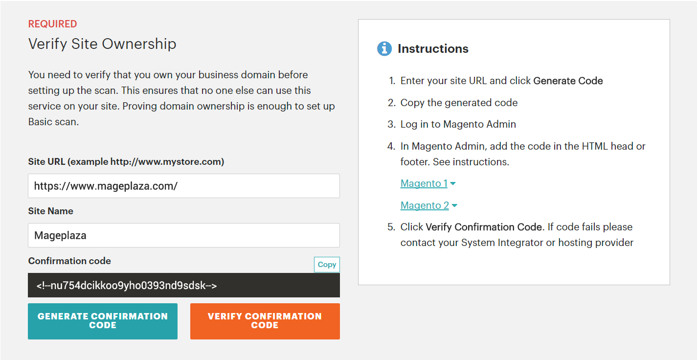 Configure Security Scan in Magento 2