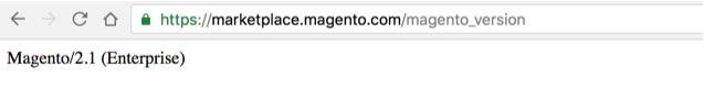 Check Magento version by URL